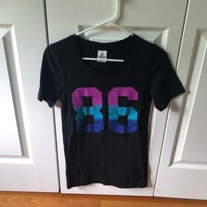 NWOT Victoria's Secret Pink 86 T-shirt with Gems